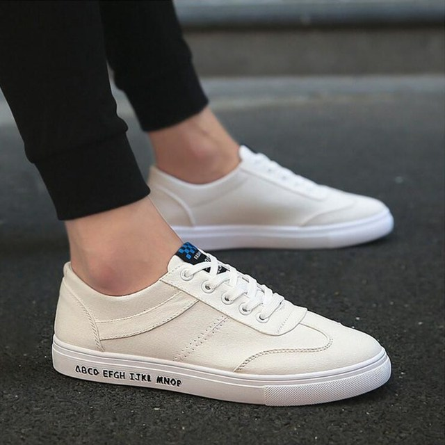 US $17.99 |Men Casual Shoes adult Spring autumn Classic Fashion Male Lace up Flats Comfortable Sneakers 3 colors Extra large size 39 44 in Men's