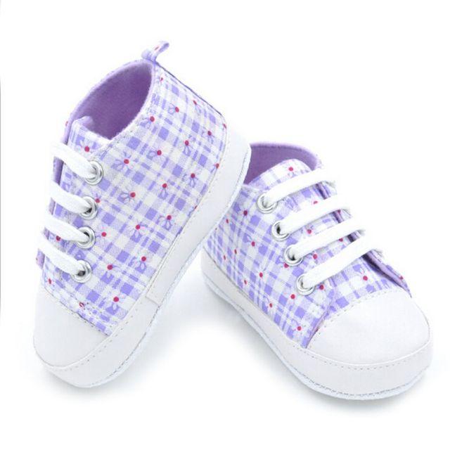Nueva alta calidad del bebé Zapatos niñas niños moda prewalkers suaves de los zapatos de lona del arco iris zapatos de bebé ocasionales