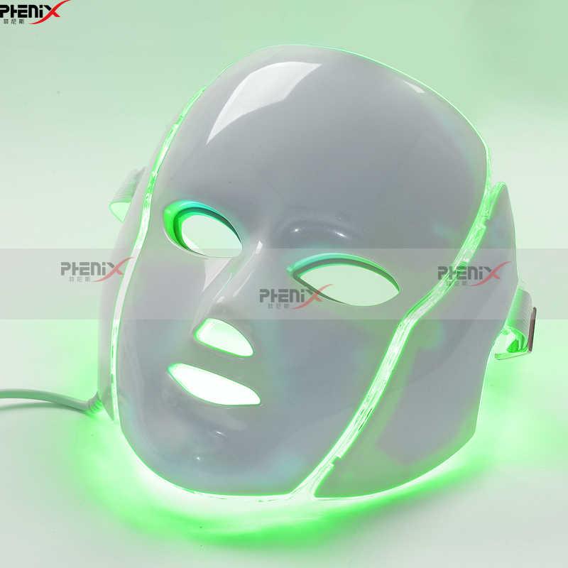Pdt светодиоды свет маска для лица 7 цветов лечение акне Осветление кожи лица Омоложение кожи легкая терапия maquillage лица
