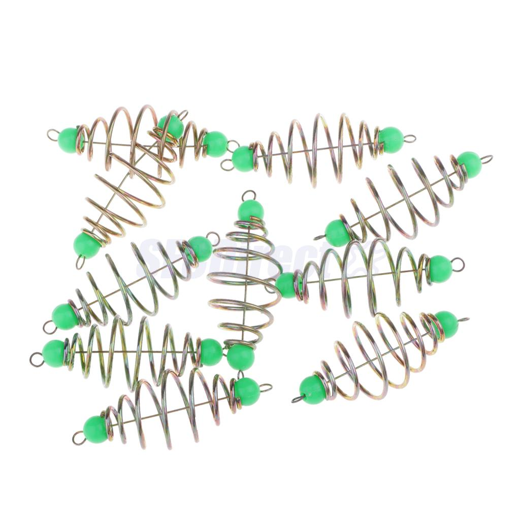 10Pcs Spring// Coil Inline Fishing Feeders Carp Tench Bream Method Feeder