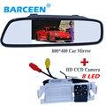 """Cámara de visión trasera con monitor del espejo de coche incluye 4.3 """"pantalla lcd + 8 brigh led lente adaptarse para Kia Rio K2 Hatchback"""