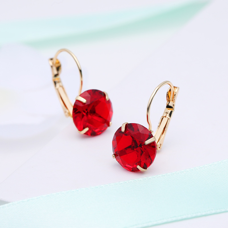 MOONROCY Fashion Jewelry Wholesale Rose Gold Color CZ Blue Red Green