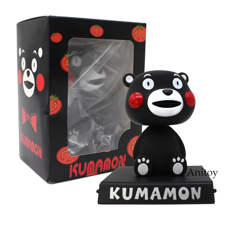 Kumamon Black Bear Bobble Head Doll Piggy Bank PVC Figure Collectible Model Toy 10cm fallout vault boy bobble head pvc action figure collectible model toy 7 styles