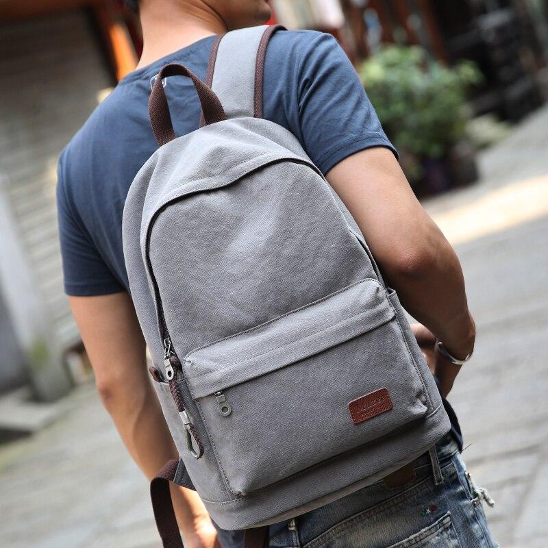 sexo masculino mochila de lona Exterior : Abra o Bolso