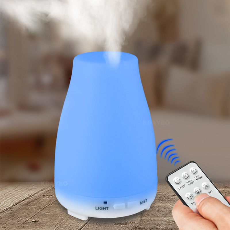 200ML Remote Control Ultrasonic Humidifier Aromatherapy Oil Diffuser Cool Mist With Color LED Lights essential oil diffuser