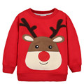 t shirt long sleeve kids Cartoon Baby Boys T-Shirt Children Pullovers baby winter Christmas hoodie outerwear thicken Santa Claus