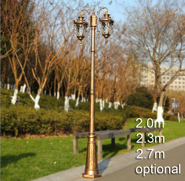 outdoor post lights short american european style street lighting garden outdoor post light with rod vintage road lamp landscape