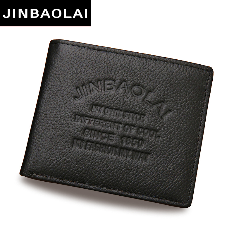 7a2285ff1a67 JINBAOLAI fashion men wallets famous brand genuine leather wallet designer  with coin pocket purse card holder for men carteira-in Wallets from Luggage    ...