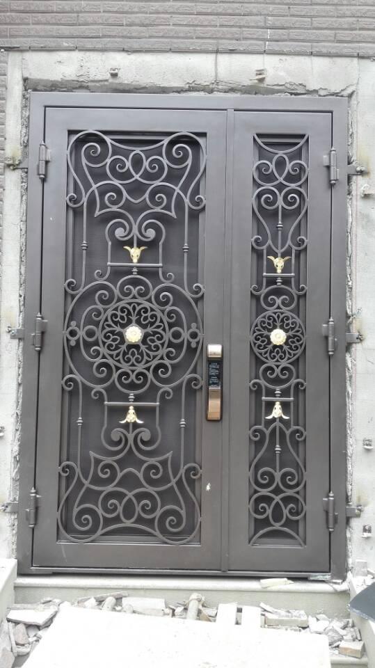 Custom design 72 x96wrought iron doors direct shipping to home hench-id1