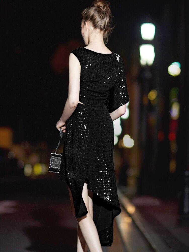 Schwarz teiliges 2 R Damen Set Kleid Schulterfrei hQsdtrCx