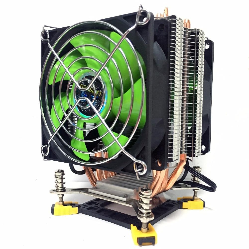 LANSHUO 4 thermal Processor cooler TDP 160W 90mm CPU fan Aluminum radiator for lga 775/1150 / 1151/1155/1156/1366 cooling Fan comfortable rubber aluminum alloy bicycle handlebar grips black silver pair