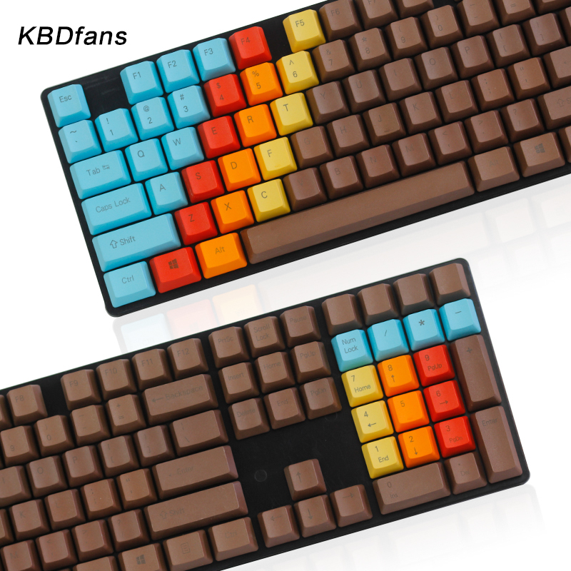 side printed top printed blank printed 108key 1976 mixed color oem profile thick pbt dyed keycap for mx switces mechanical