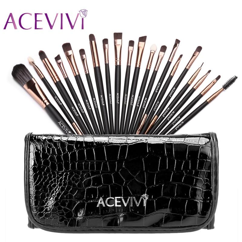 ACEVIVI 15 Colors Makeup Face Cream Concealer Palette + 20 PCS Powder Brushes + Carrying Bag acevivi 15 color concealer palette 24 pcs wooden handle brush 1 leather carrying bag puff makeup base foundation concealers