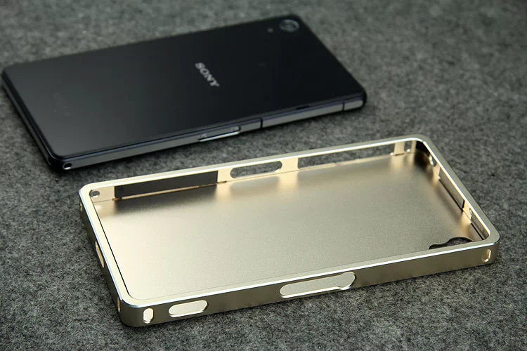big sale 6d74b 57e5a US $18.49 |Original luxury aluminum metal 2 part in 1 back cover+frame case  for SONY Xperia z2 metal case for SONY Z2 Retail box free gift on ...