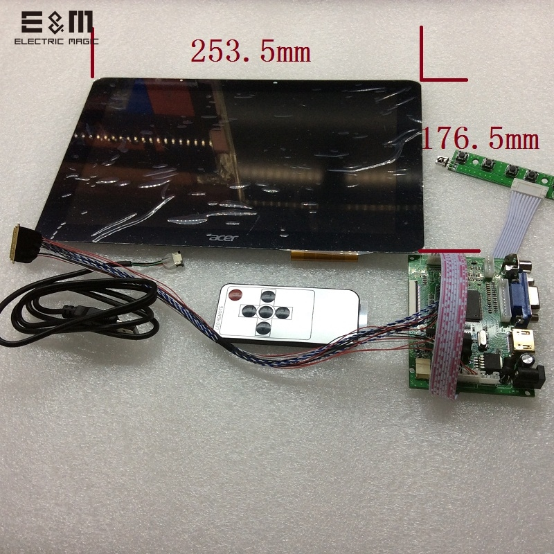 E&M 10.1 inch 1280*800 Capacitive Touch Screen IPS LCD Module Monitor Display Backing Car HDMI VGA AV Raspberry Pi 3 RemoteE&M 10.1 inch 1280*800 Capacitive Touch Screen IPS LCD Module Monitor Display Backing Car HDMI VGA AV Raspberry Pi 3 Remote
