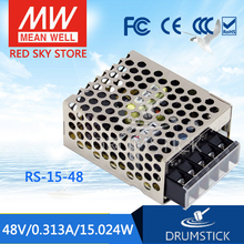 цена на [VII] Hot! MEAN WELL original RS-15-48 48V 0.313A meanwell RS-15 48V 15W Single Output Switching Power Supply