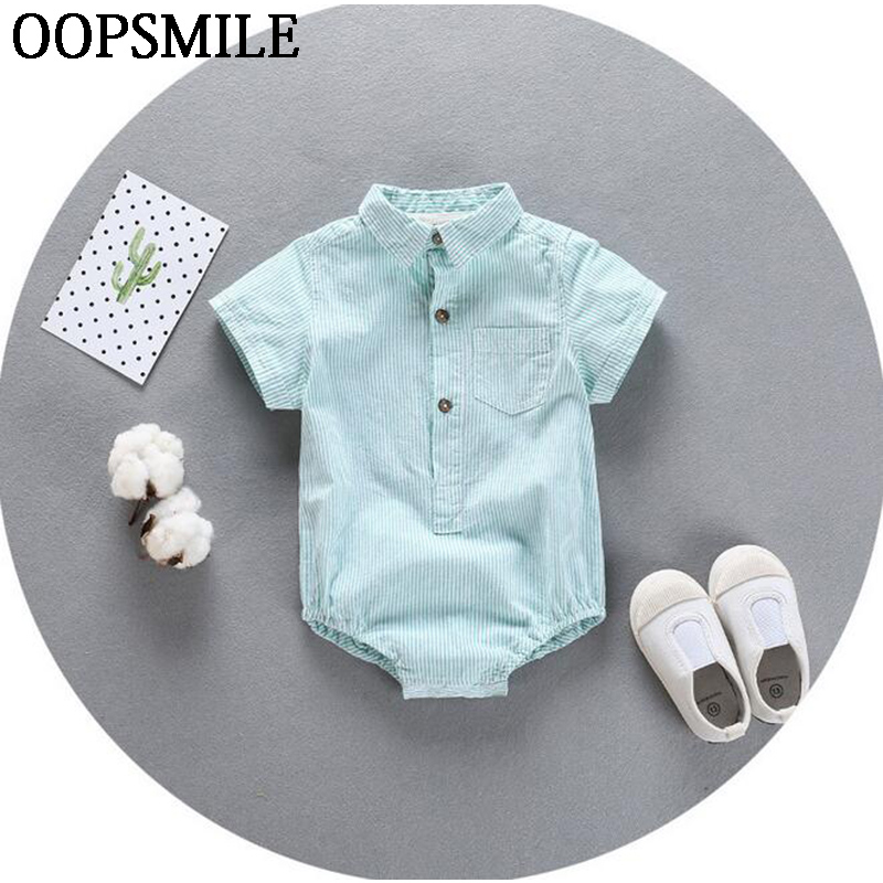 Baby Rompers Newborn Baby Boy Girls Clothes Short Sleeve Stripe Baby Clothing Girl Roupa Infantil Body Bebes Next Jumpsuit unisex baby rompers cotton cartoon boys girls roupa infantil winter clothing newborn baby rompers overalls body for clothes
