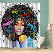 Роскошная женская занавеска для ванной комнаты в стиле афро