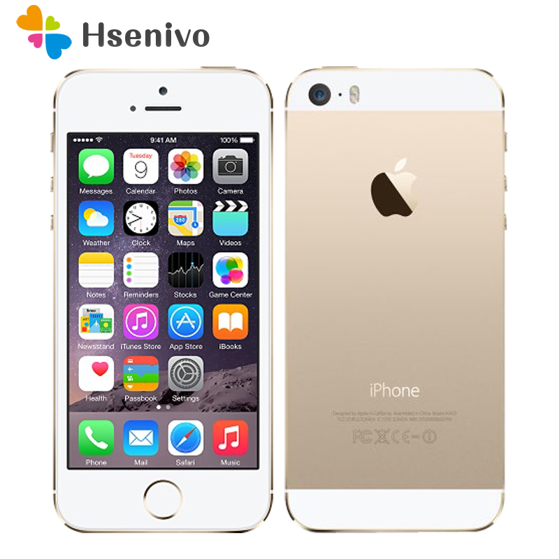"Apple iPhone 5S Original Cell Phones Dual Core 4"" IPS Used Phone 8MP 1080P Smartphone GPS IOS iPhone5s Unlocked Mobile Phone"