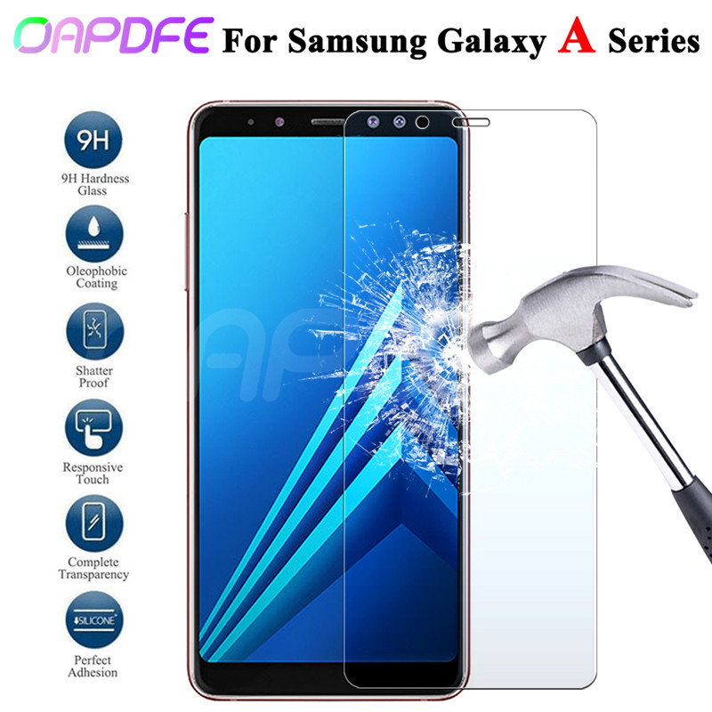 Premium Tempered Glass For Samsung Galaxy A3 A5 A7 2015 2016 2017 A6 A8 Plus A9 2018 Screen Protector HD Protective Film Case