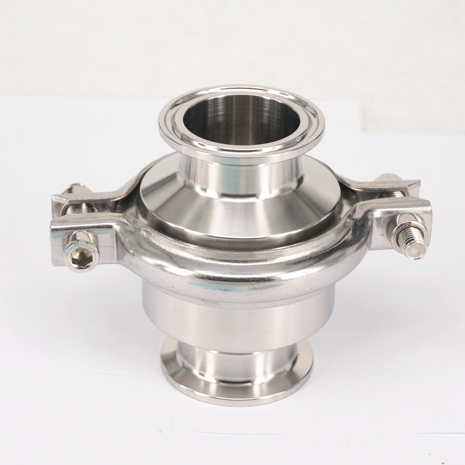 Fit 1-1/2 38mm Pipe OD 304 Stainless Steel Sanitary 1.5 Tri Clamp Check Valve One Way Non-return Home Brew Wine Beer 1 dn20 sanitary stainless steel ball valve 3 way 316 quick installed food grade manual clamp ball valve handle t port valve