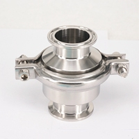 Fit 1 1/2 38mm Pipe OD 304 Stainless Steel Sanitary 1.5 Tri Clamp Check Valve One Way Non return Home Brew Wine Beer