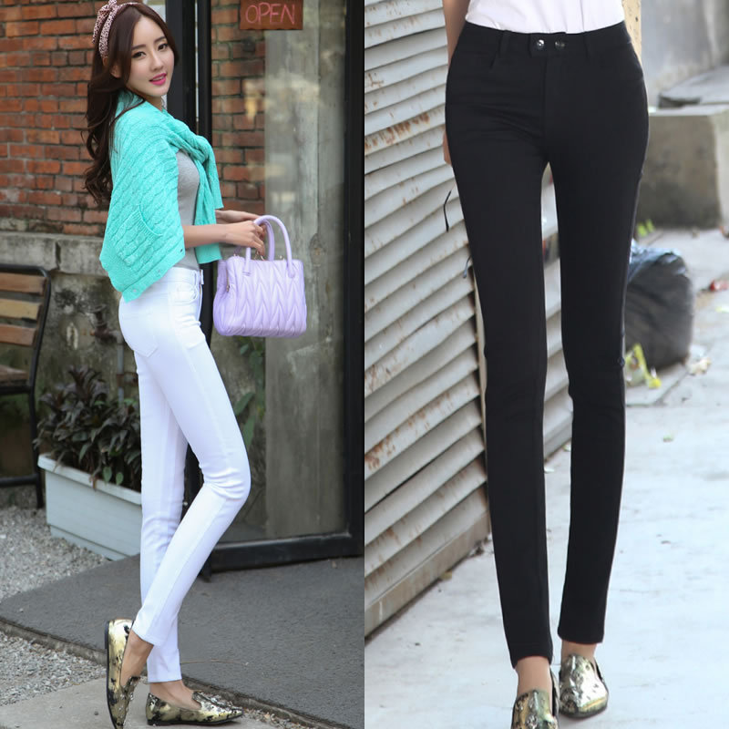 e61f29b765 Korean version of the influx of white female high waist jeans Slim pencil pants  skinny legs-in Pants & Capris from Women's Clothing on Aliexpress.com ...