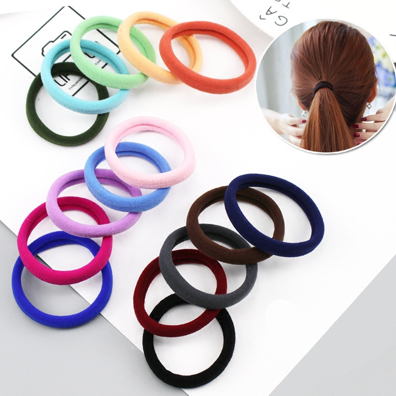 30pcs Diameter 4cm Rubber Rope Scrunchy Elastic Hair Bands Woman Girl Headdress Hair Ties Ropes Gum Ponytail Holders Accessories