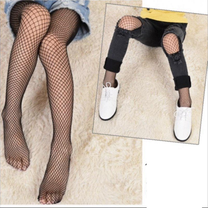 2018 Brand Sexy Baby Girls Stockings Bottoming Outwear Black Fishnet Stockings Party Summer Fashion Casual Children Stockings