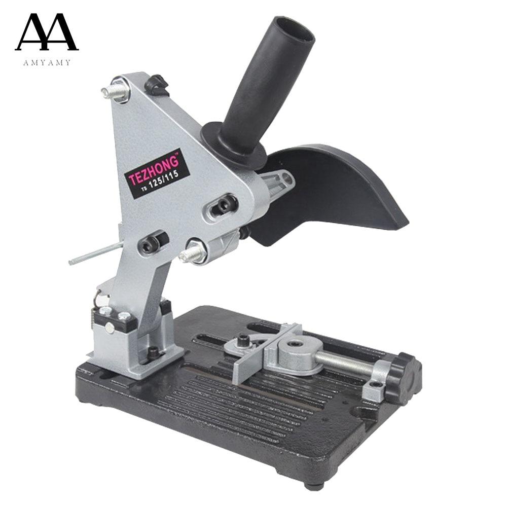 AMYAMY Angle Grinder Stand bracket Holder Metal Cutting Machine Aluminum body cast iron base for 100 115 125mm angle grinder aluminum angle grinder bracket holder