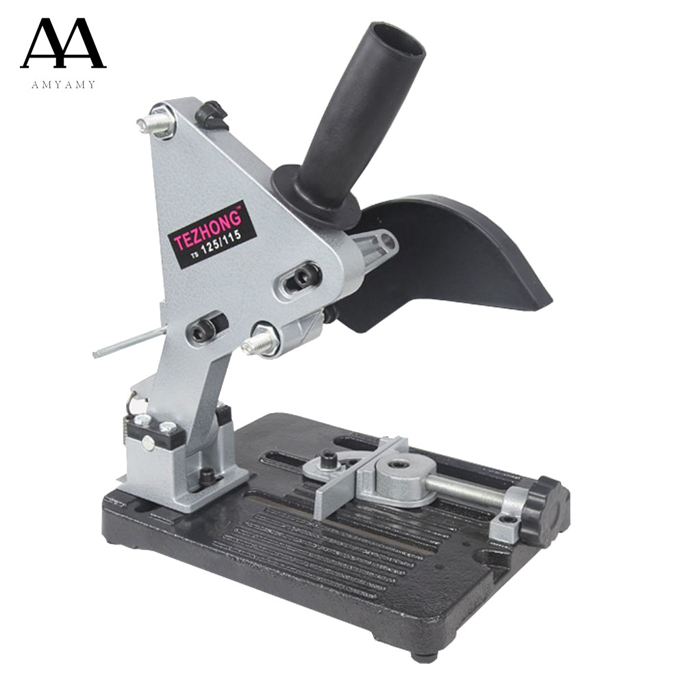 AMYAMY Angle Grinder Stand Bracket Holder Support Cutting Machine Aluminum Body Cast Iron Base For 100 115 125 Angle Grinder