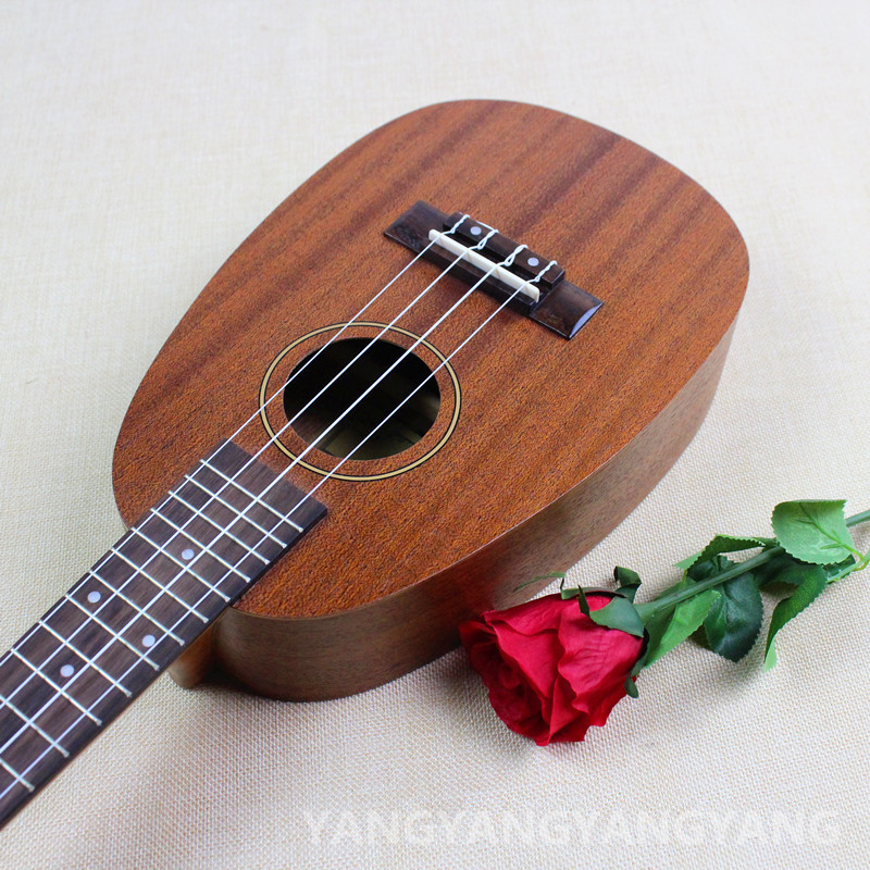 Concert Ukulele 23 Inch Hawaiian Pineapple Guitar 4 Strings Ukelele Guitarra Handcraft Wood Mahogany Musical Instruments Uke 26 inchtenor ukulele guitar handcraft made of mahogany samll stringed guitarra ukelele hawaii uke musical instrument free bag