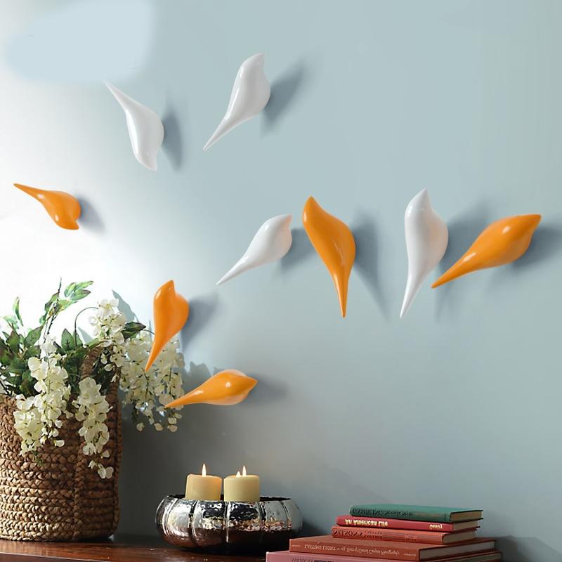 Single Hook  Simple Resin Wall Coat Rack bird hooks bedroom wardrobe hanging hook wall wall decoration ornaments