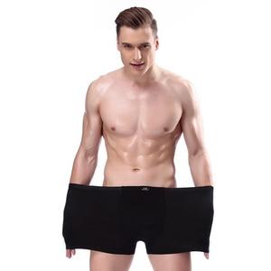 Image 4 - Cueca boxer masculina, 7, pçs/lote, respirável, cor sólida, plus size 4xl 5xl 6xl