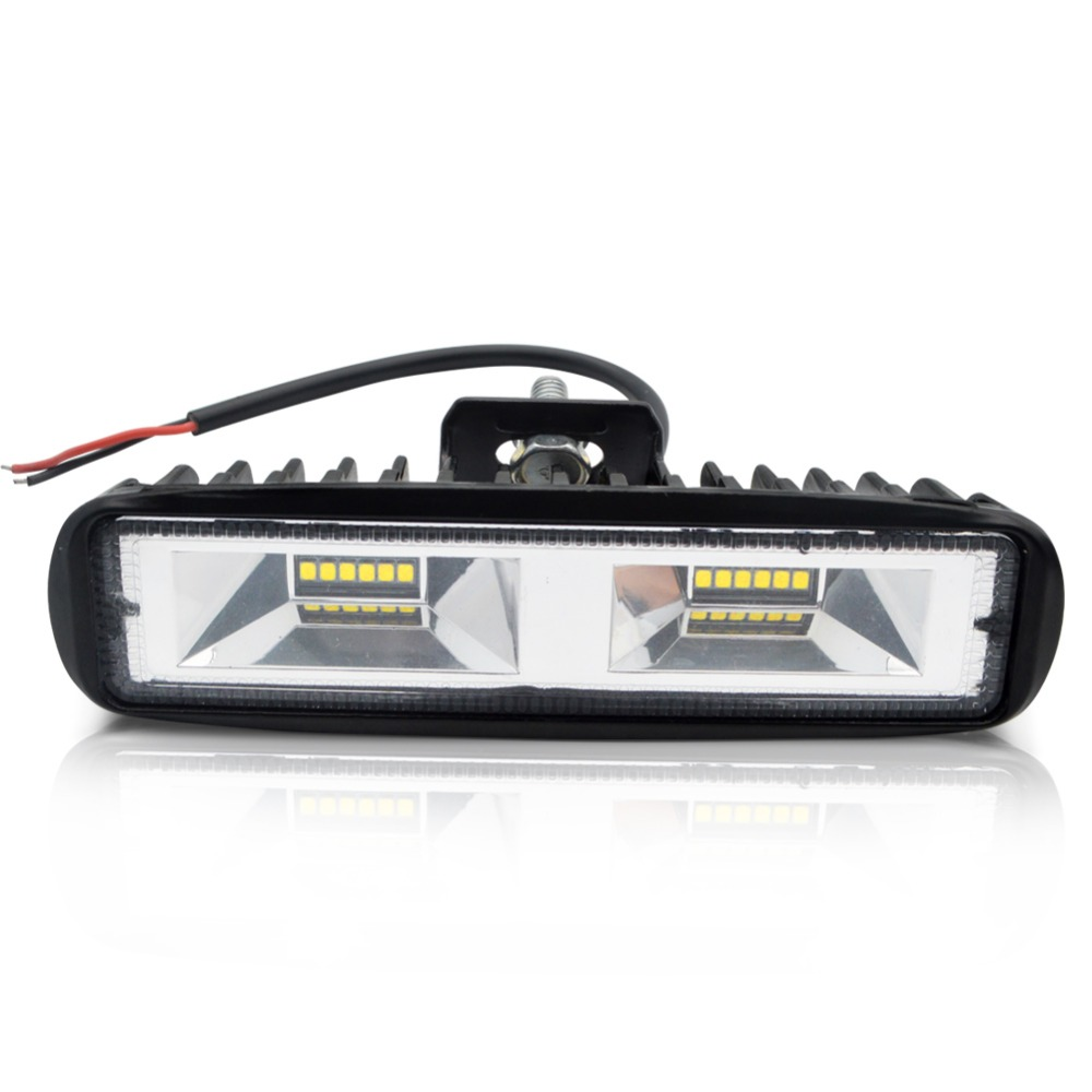 Safego 6.18 pouce 18 w LED Lumière Bar Moto Offroad 4x4 ATV Spot Feux de jour Camion Tracteur avertissement Travail Spotlight