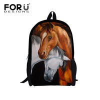 Stylish Crazy Horse Backpack Children Animal School Bags For Teenager Girls Boys Bagpack Outdoor Travel Shoulder