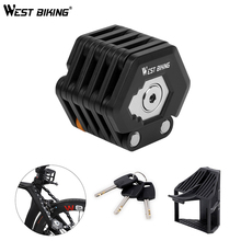 WEST BIKING High Security Bicycle Lock Drill Resistant Anti Theft Alloy Foldable Electric Bike Motorcycle ChainLock