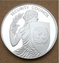 Médaille du conseil de sécurité des états-unis, Souvenir de 40MM, pièce UN