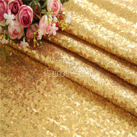 7 Yards 3mm Sequin Fabric Gold Sequin Fabric Wholesale Glitter Fabric For Clothes