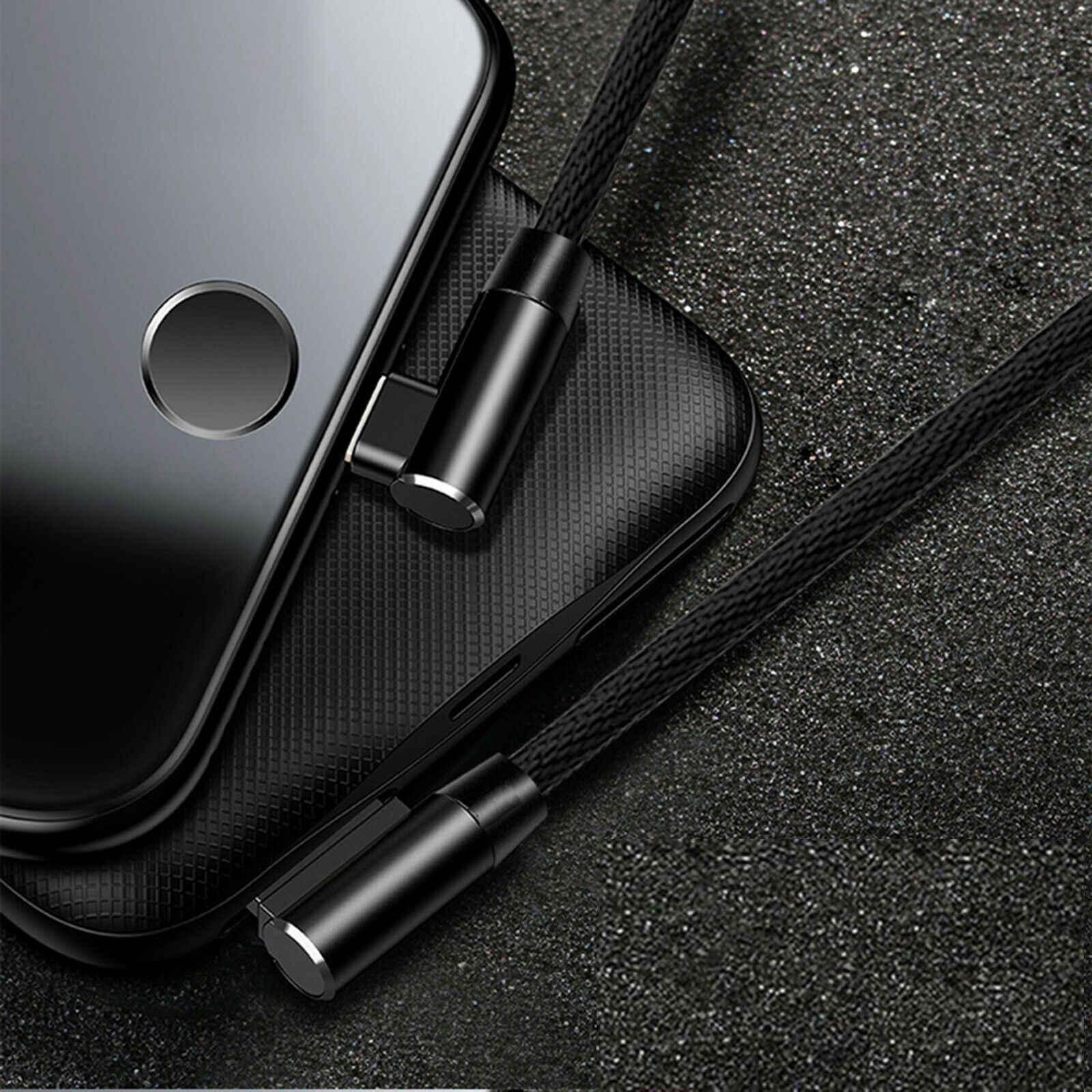 90 gradi Cavo USB per il iPhone XS Max XR X 8 7 6 6s 5 5S di Ricarica Veloce adattatore Cavo di Dati del caricatore del Cavo Del Telefono Mobile