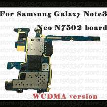 N7502 Original Unlocked For Samsung galaxy motherboard Note3 neo N7502 ,16gb 100% working mainboard with chips board