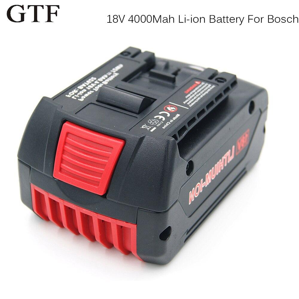 GTF 18 V 4000 mAh Li-ion de Remplacement Outil Batterie Rechargeable Batteria pour Bosch 17618 BAT609 BAT618 Puissance Outil Accumulateur Cellules