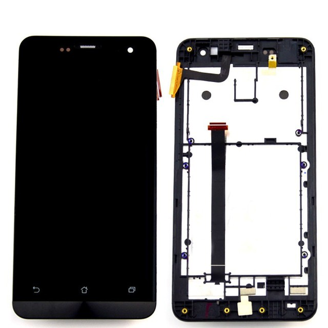 used parts For Asus ZenFone 5 A500CG A501CGL A500KL T00J Touch Screen Digitizer Glass Sensor LCD Display Panel Assembly + Frame