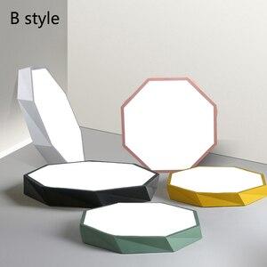 Image 3 - Macaron צבע תקרת LED נברשת העגול דקה נברשת תאורה למיטה חדר ילדים LEDlamp lamparas דה techo