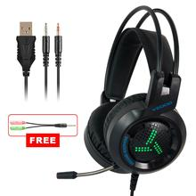 где купить PC Gaming Headset 7.1 Gamer Surround Sound Bass Stereo Game Headphones With Microphone LED Colorful for Phone Xbox One PS4 дешево