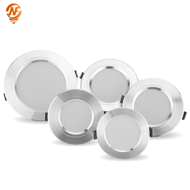 Led Downlight Lamp 5W 9W 12W 15W 18W AC 220V 230V Ceiling Recessed Downlights Round Led Panel Light
