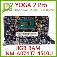 KEFU NM A074 for Lenovo Yoga 2 Pro Laptop Motherboard 5B20G38213 VIUU3 NM A074 I7 4500/i7 4510U CPU 8GB RAM original mothebroard