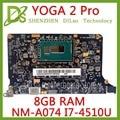 Kefu NM-A074 для lenovo <font><b>Yoga</b></font> 2 Pro Материнская плата ноутбука 5B20G38213 VIUU3 NM-A074 I7-4500/i7-4510U Процессор 8 Гб Оперативная память оригинальный mothebroard
