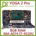 Kefu <font><b>NM</b></font>-A074 для lenovo Yoga 2 Pro Материнская плата ноутбука 5B20G38213 VIUU3 <font><b>NM</b></font>-A074 I7-4500/i7-4510U Процессор 8 Гб Оперативная память оригинальный mothebroard