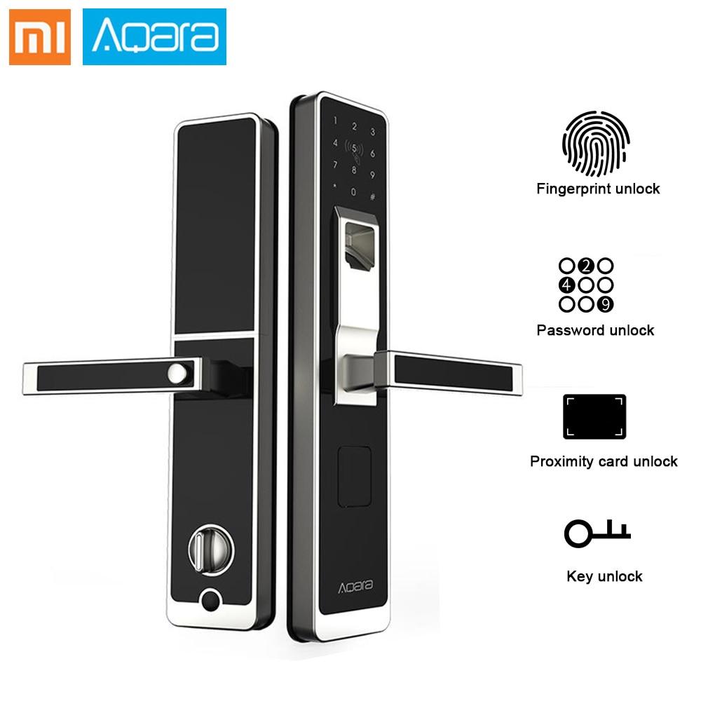 Подлинная Xiao mi Aqara Умный Замок mi Дверной сенсорный электронный замок живой отпечаток пальца разблокировка пароль приложение управление для...